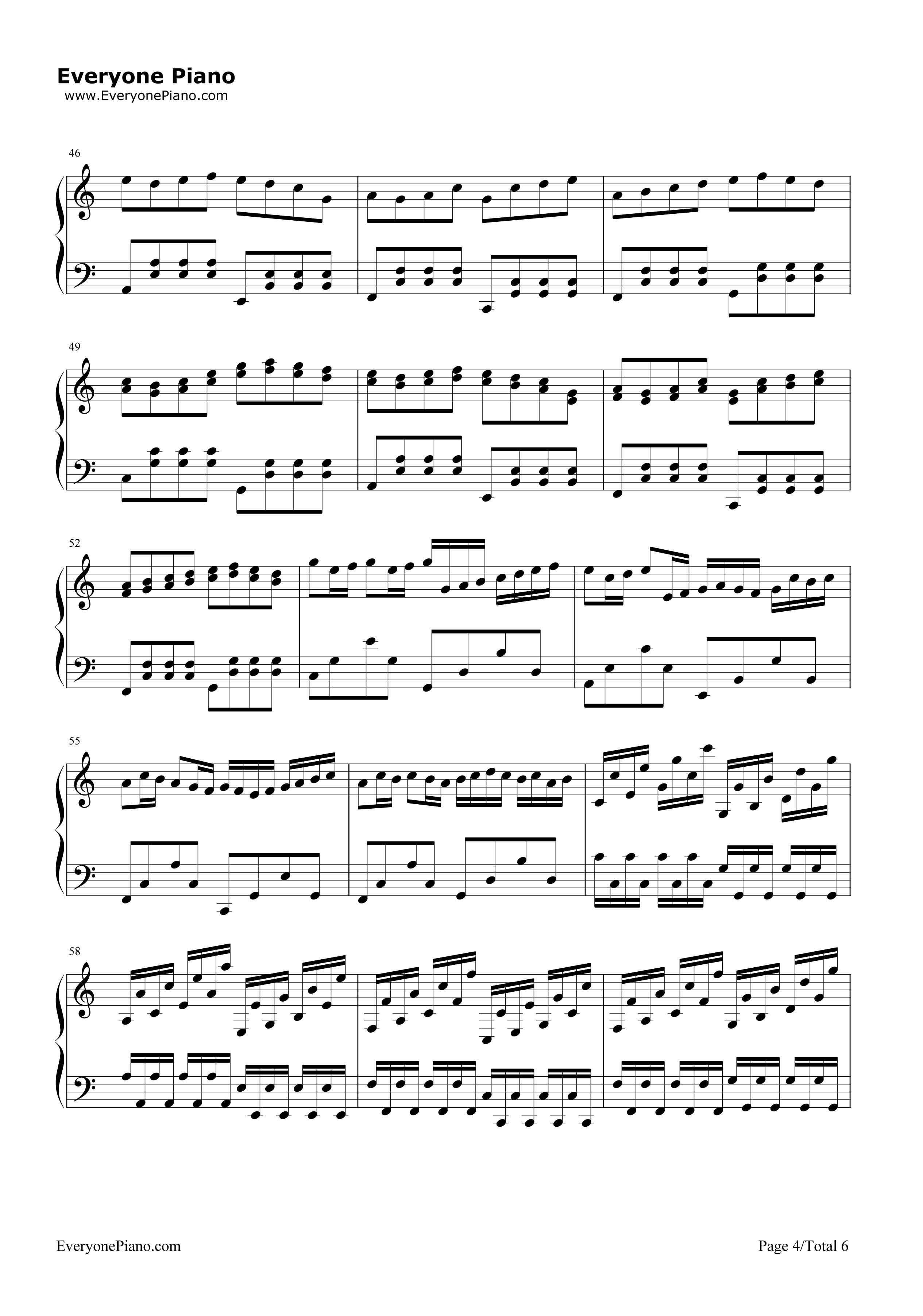 钢琴曲谱 经典 卡农圣诞夜-超喜欢的圣诞歌曲