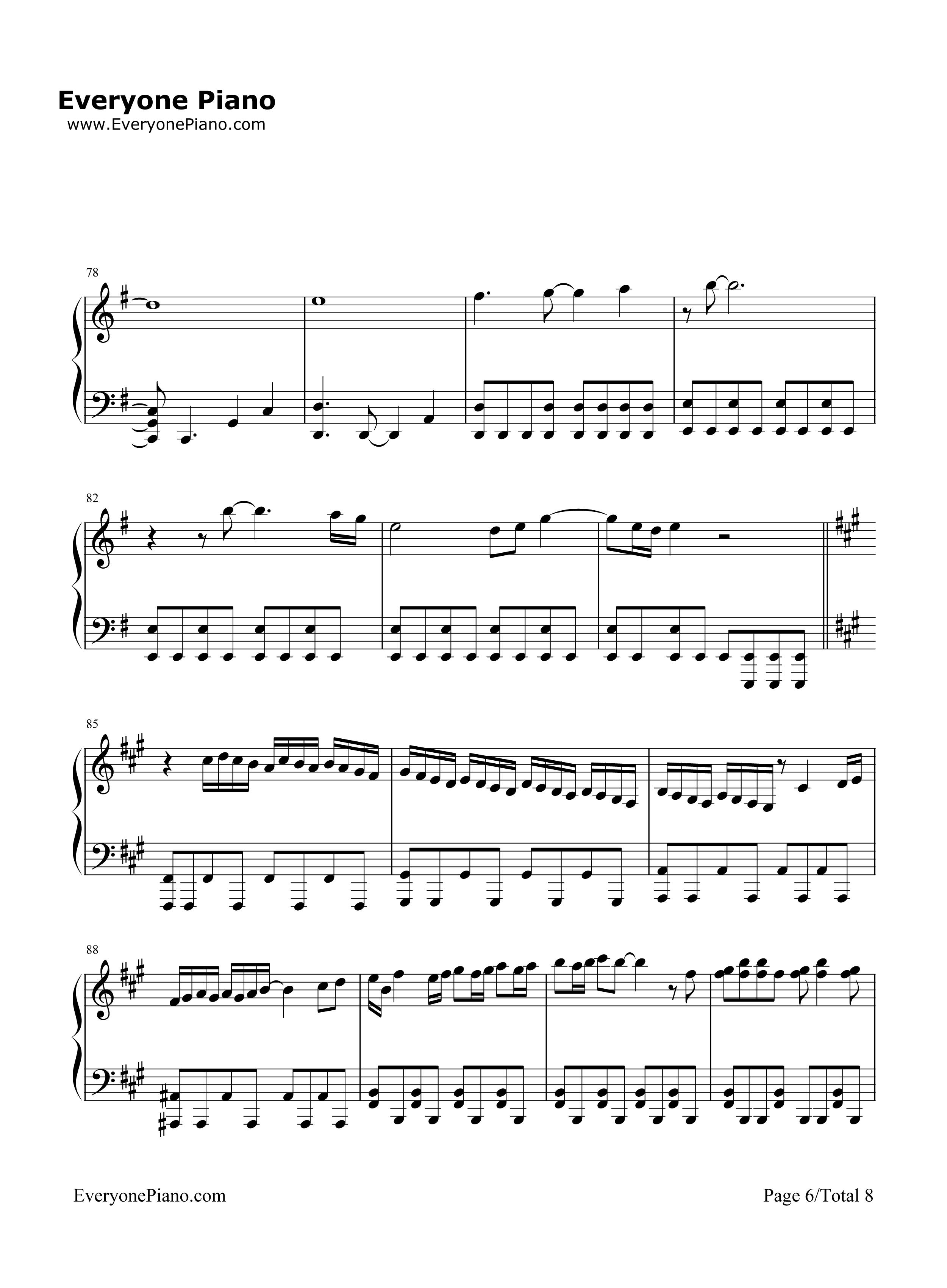 数码宝贝 钢琴谱
