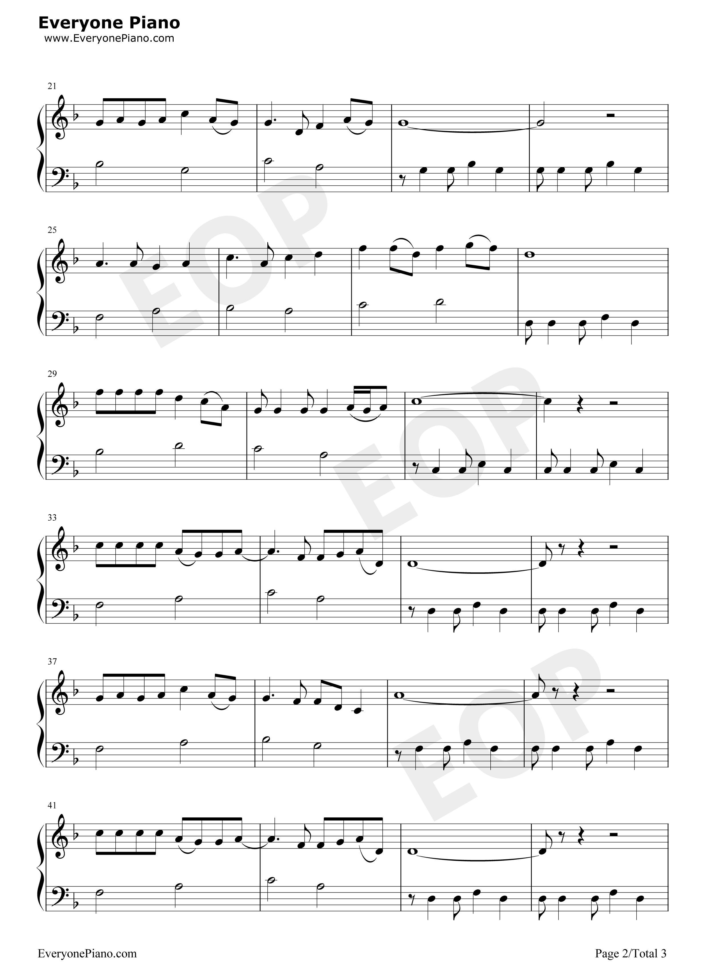 恋曲1990-罗大佑五线谱预览2
