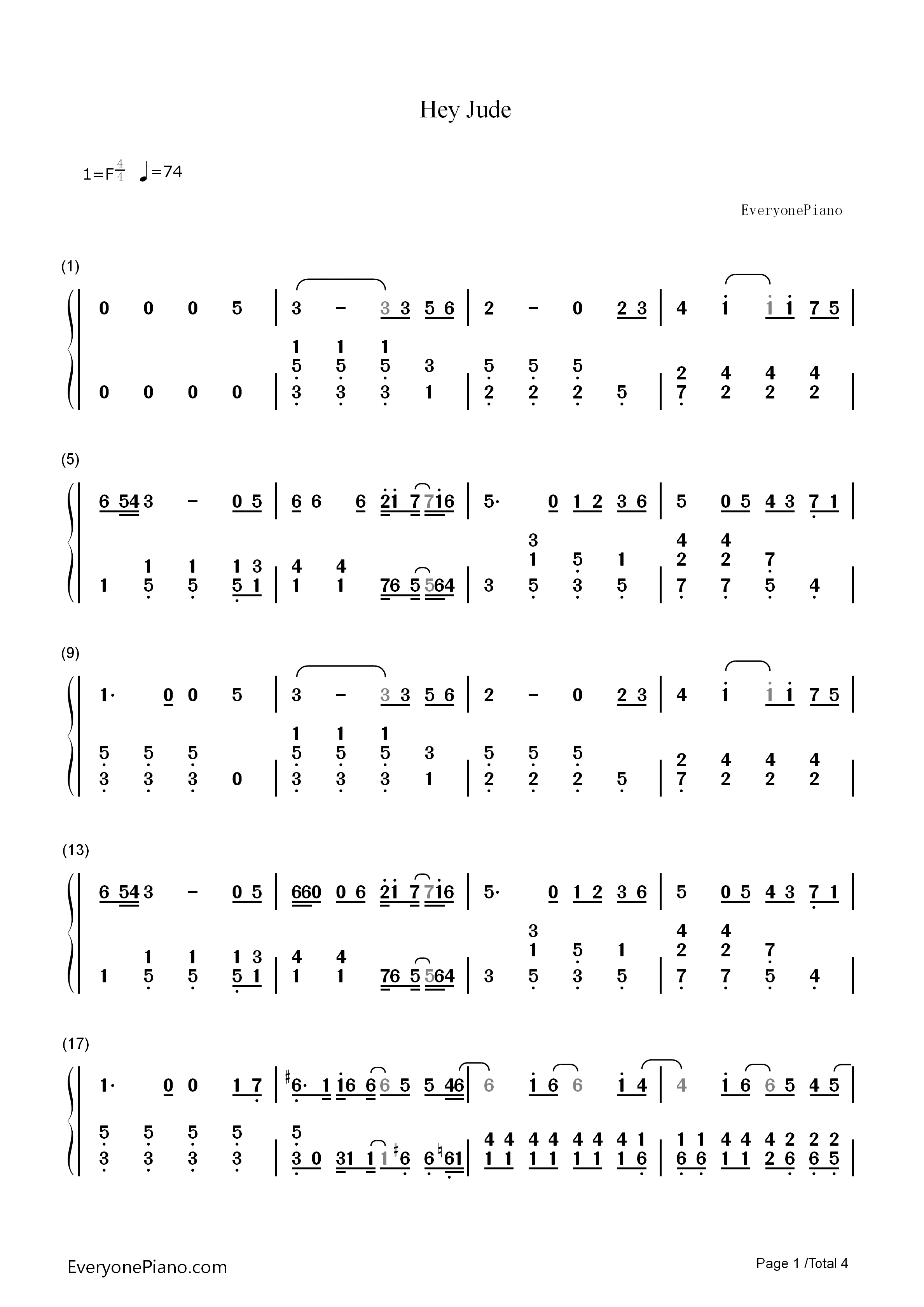 hijude单簧管谱子