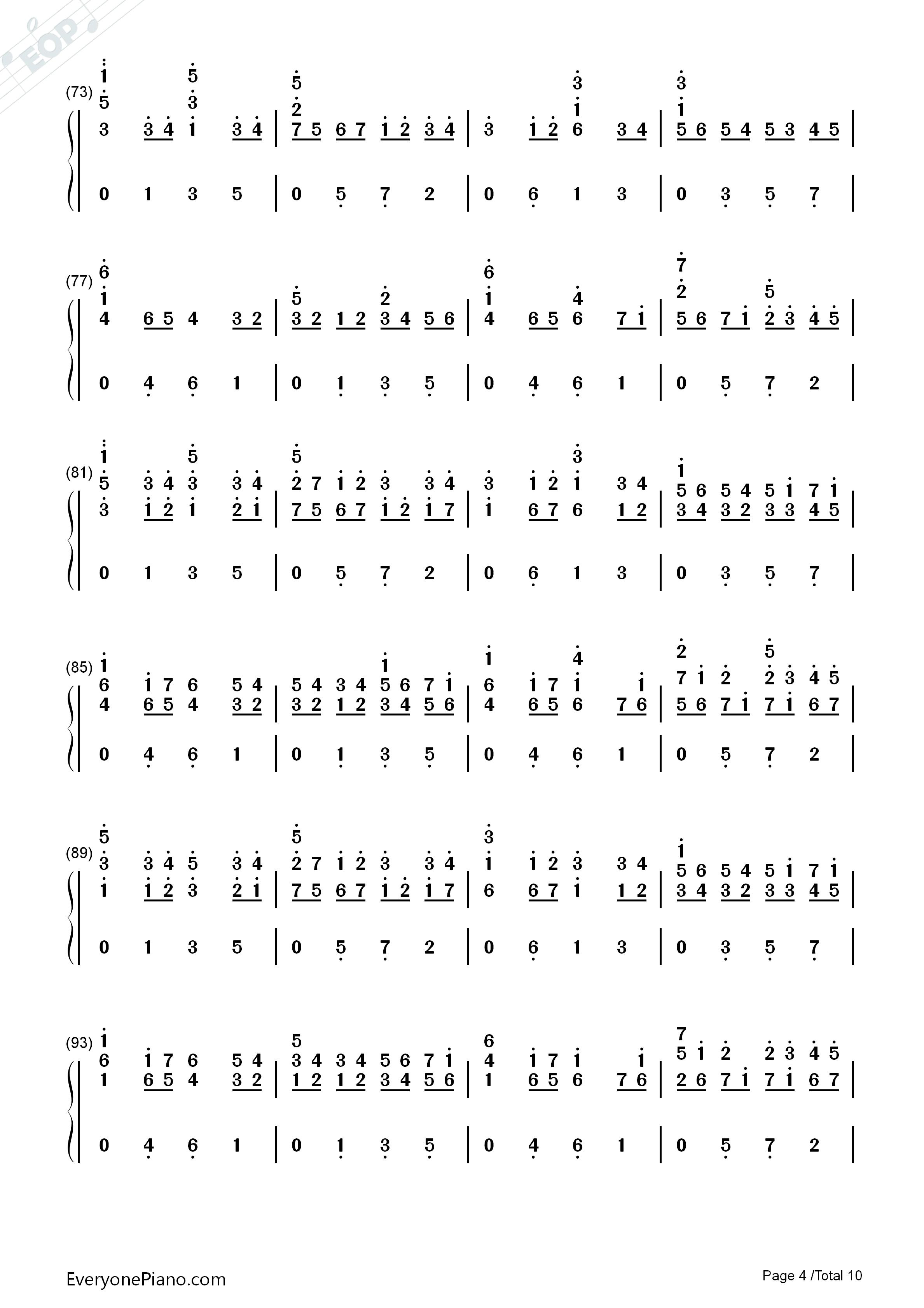 d大调卡农原版-约翰·帕赫贝尔双手简谱预览4-钢琴谱