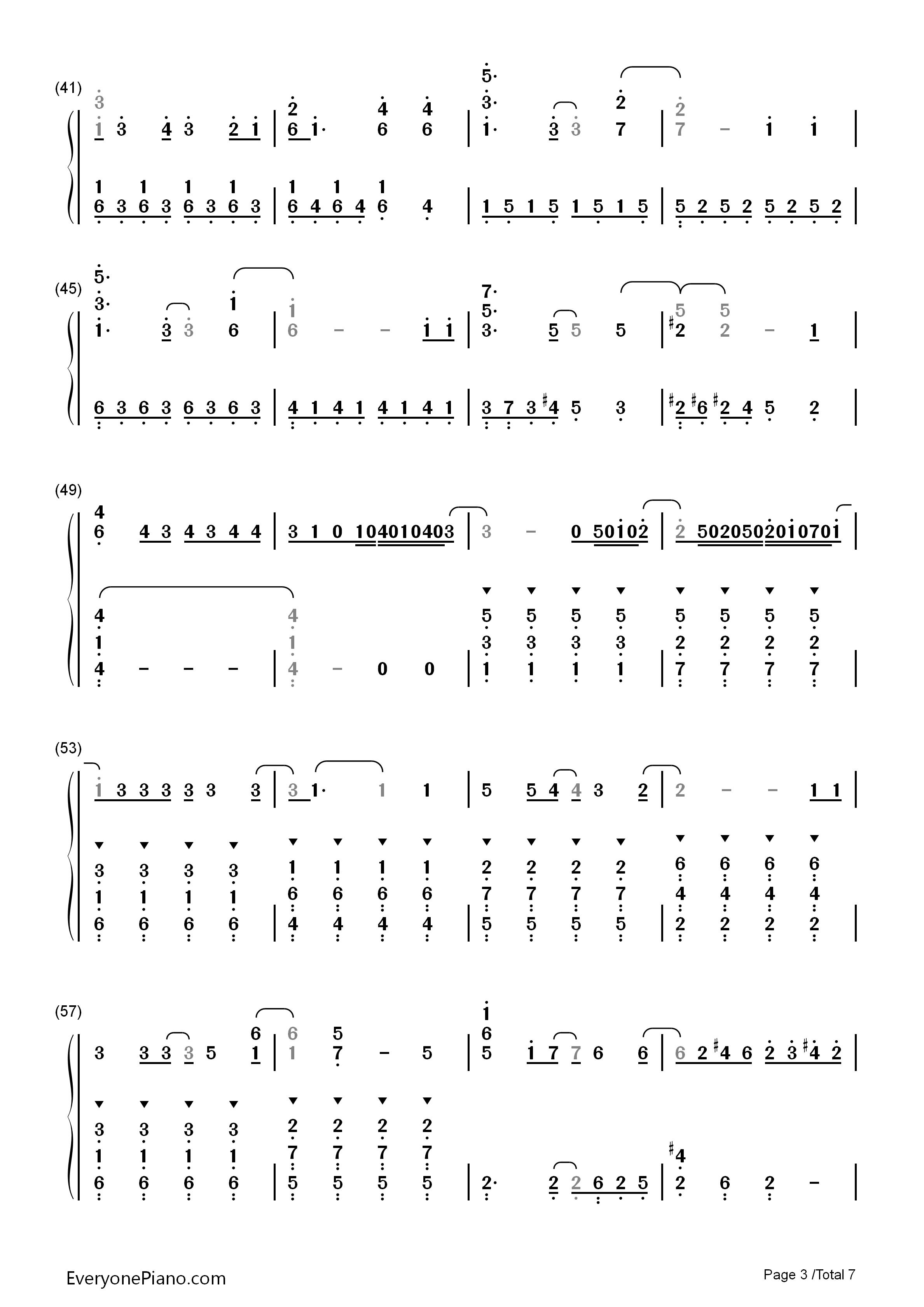 let it go简单版-冰雪奇缘主题曲双手简谱预览3-钢琴