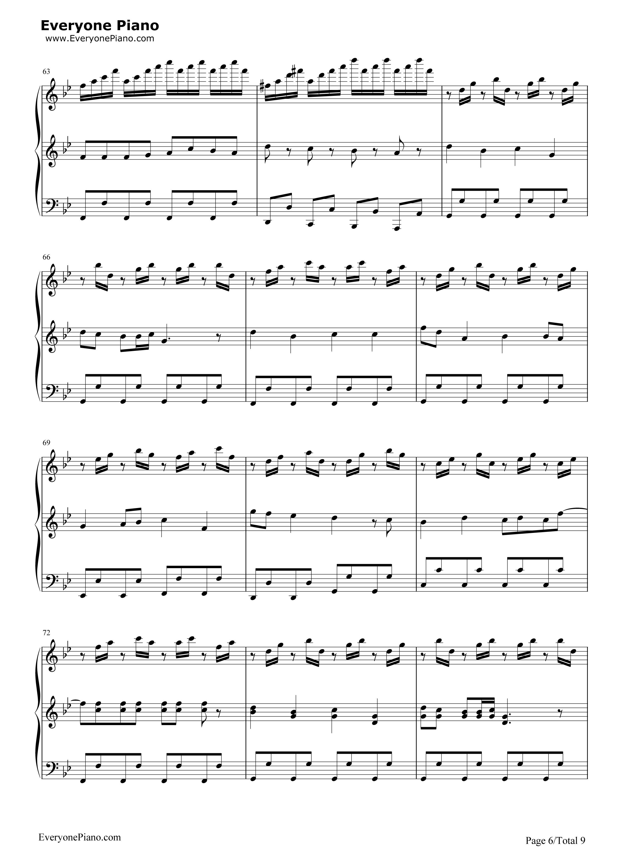 小苹果-三声部版-筷子兄弟五线谱预览6