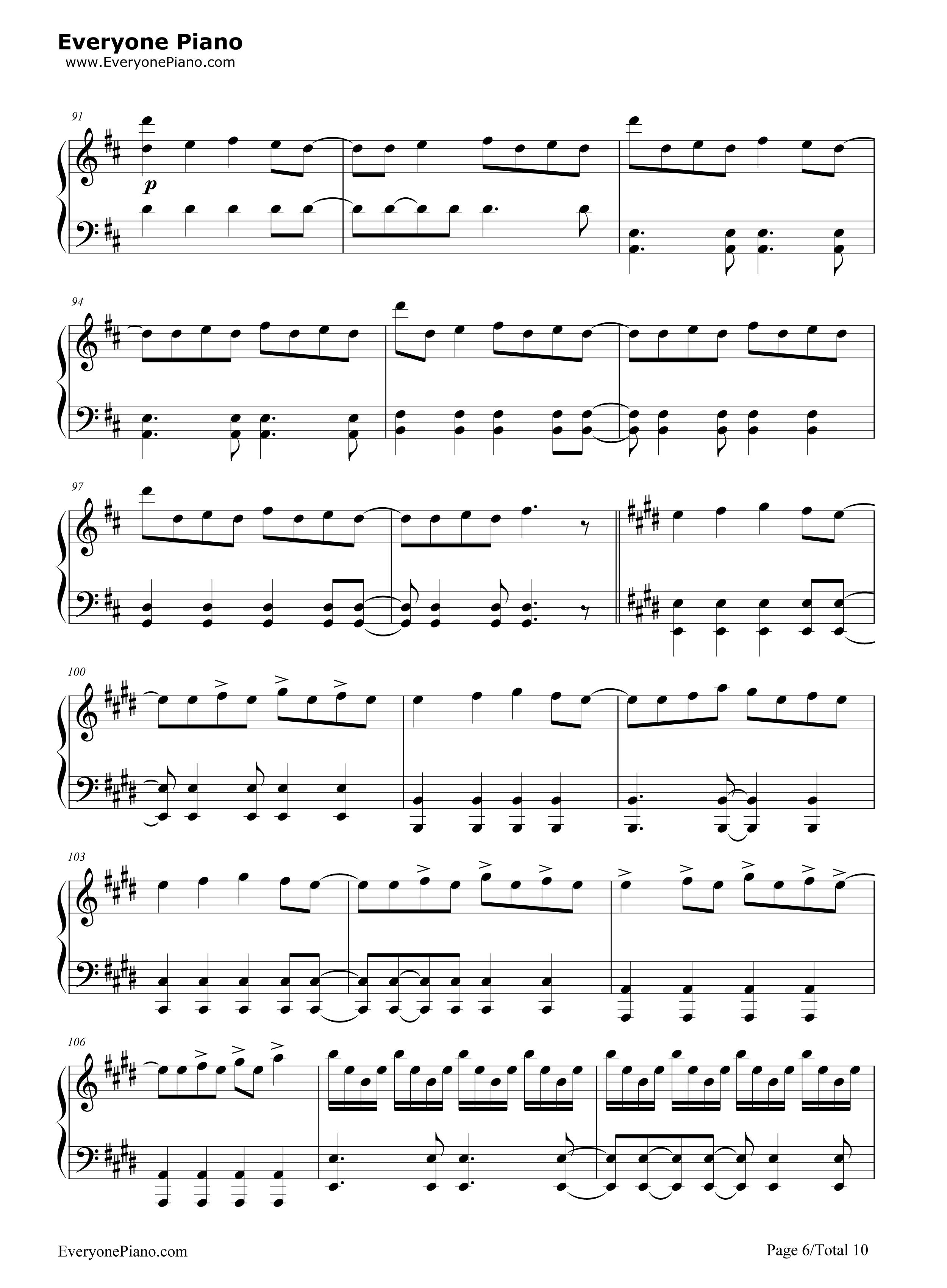 钢琴曲谱 流行 love story meets viva la vida-the piano guys love
