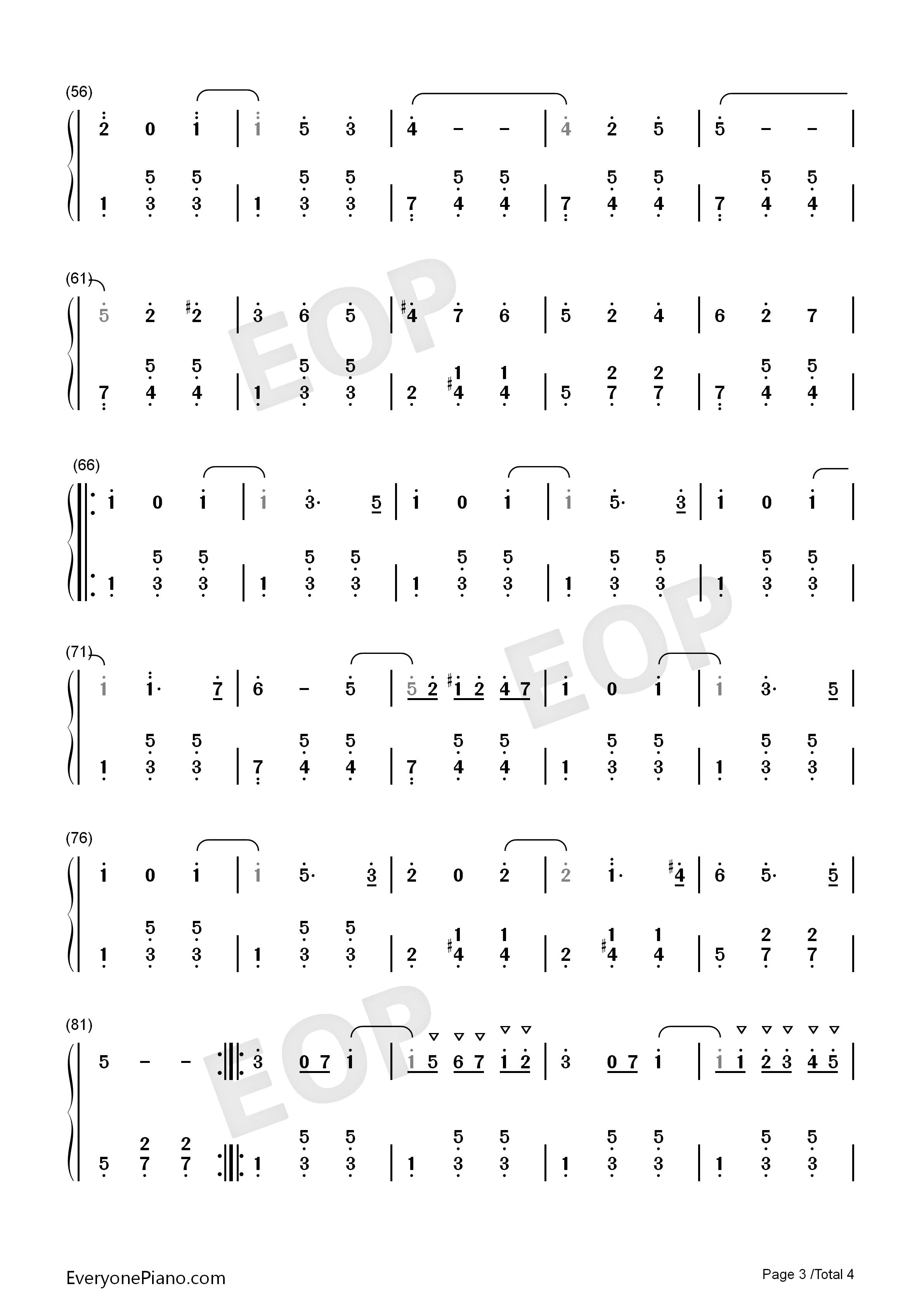 浮士德圆舞曲-夏尔 古诺双手简谱预览3-钢琴谱(五线谱