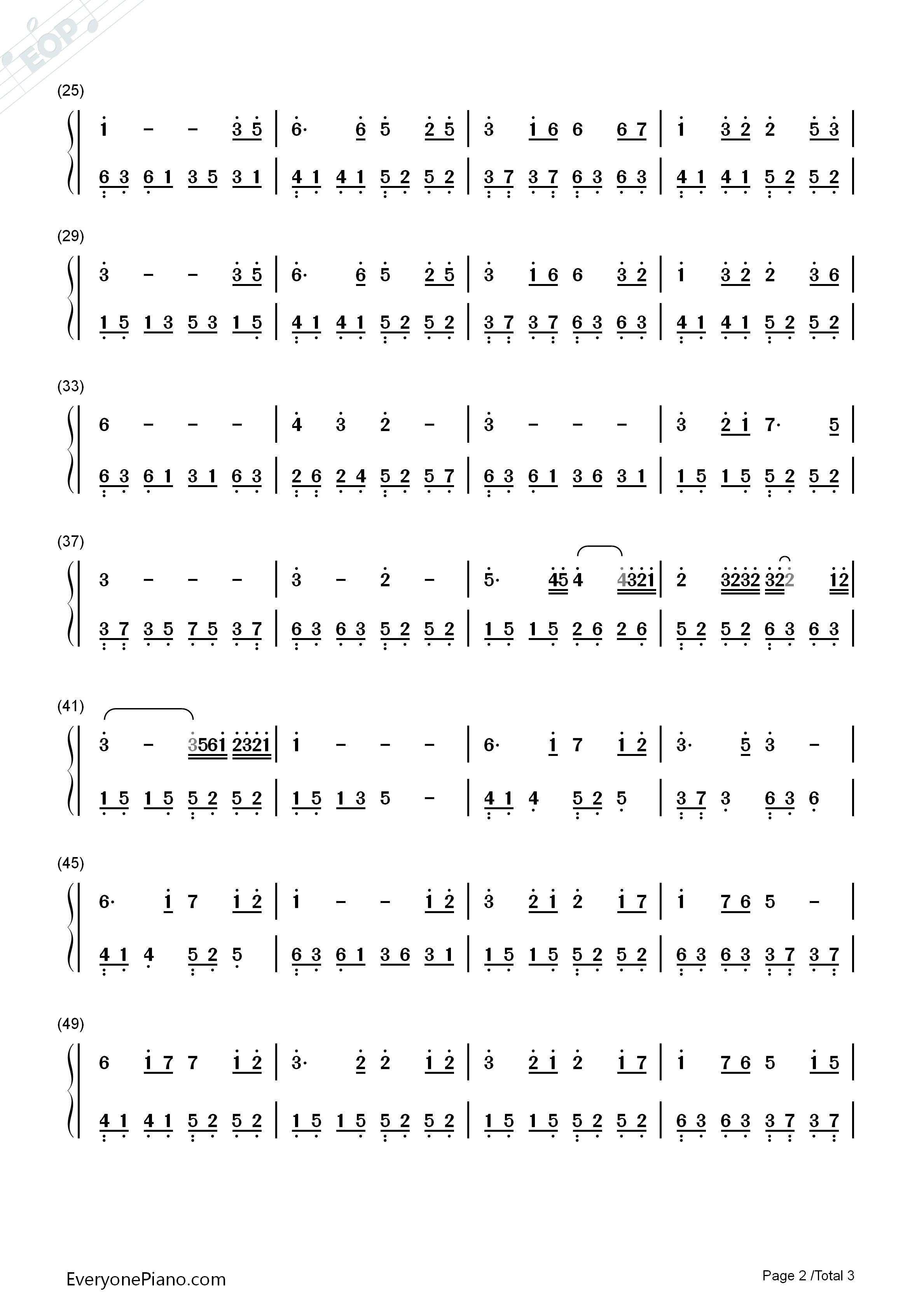星月神话-神话插曲-简单优美版双手简谱预览2