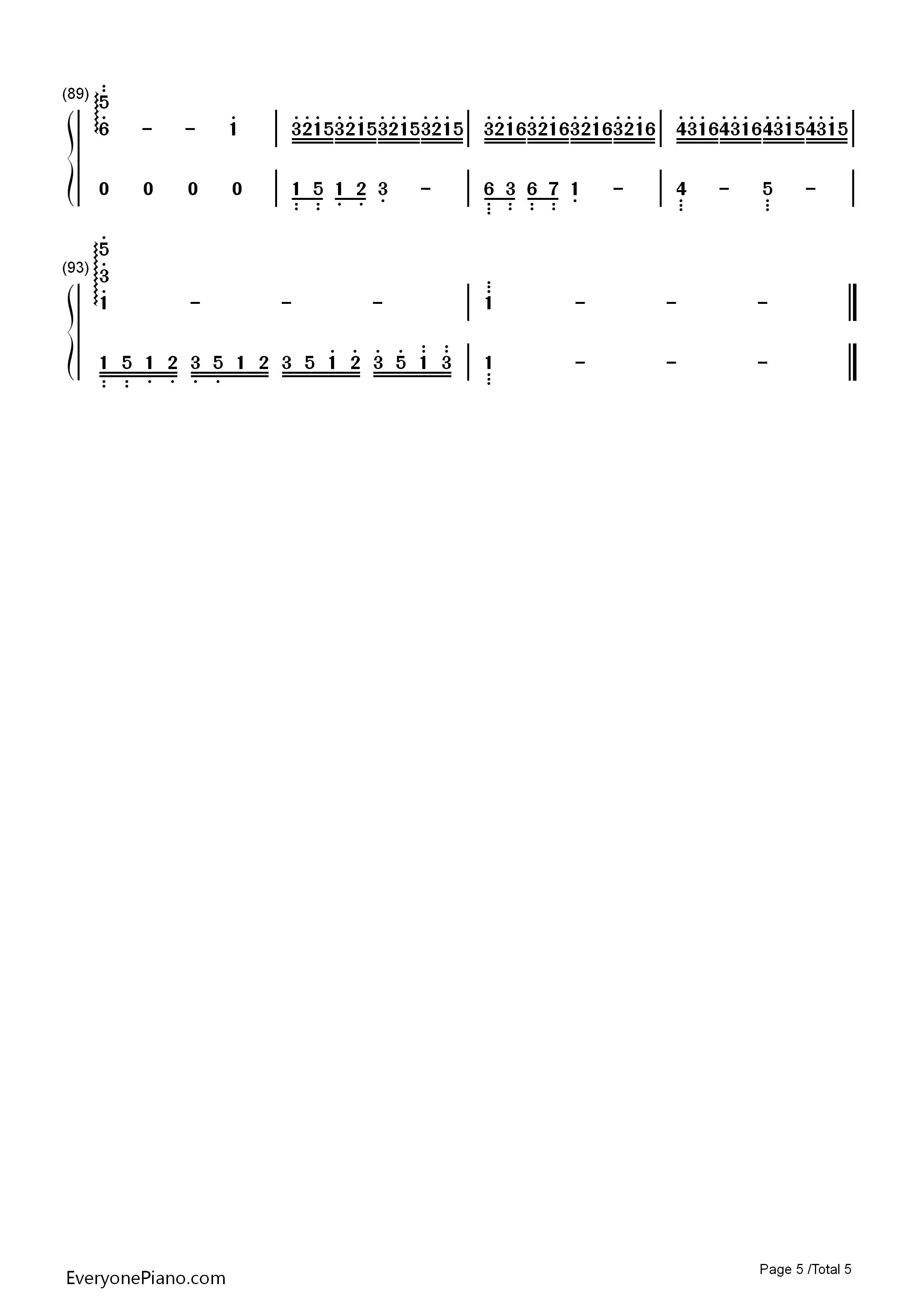 耶和华是爱-基督教歌曲双手简谱预览5