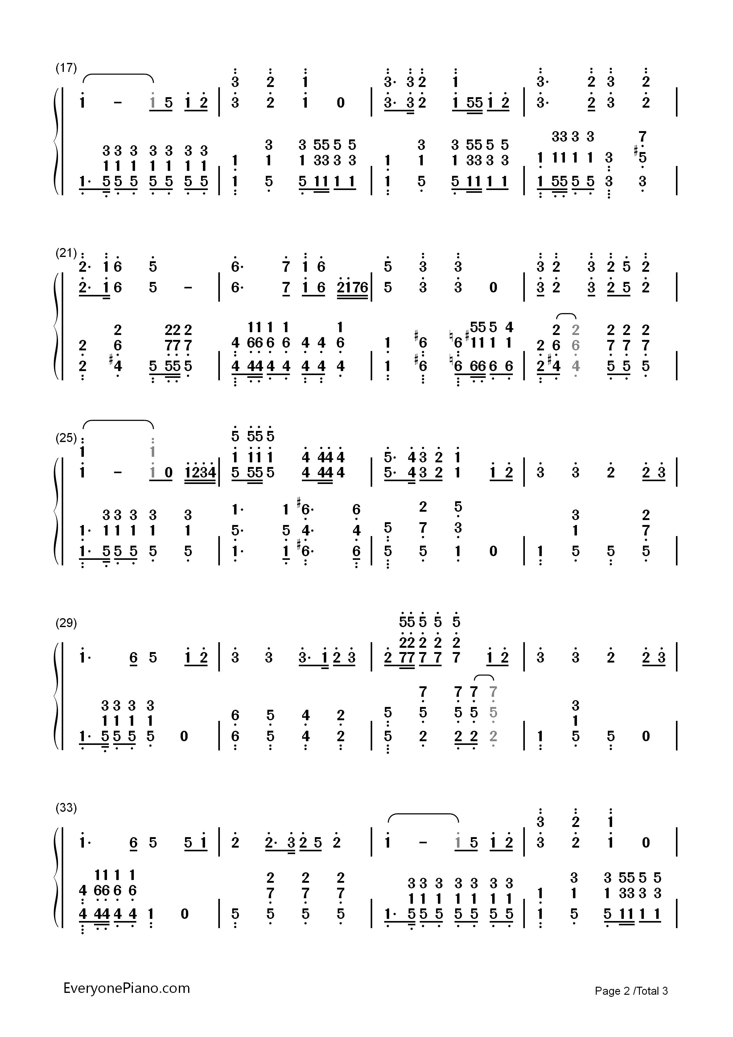 强军战歌-阎维文双手简谱预览2